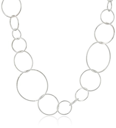 Sterling Silver Open Circle Link Necklace, (Open Circle Link Necklace)