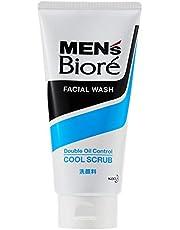 Biore Men's Double Oil Control Cool Scrub, 130g