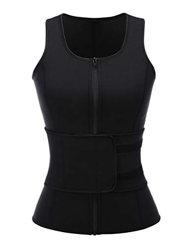FeelinGirl Women's Neoprene Sport Girdle Waist Training Corset Waist Shaper L