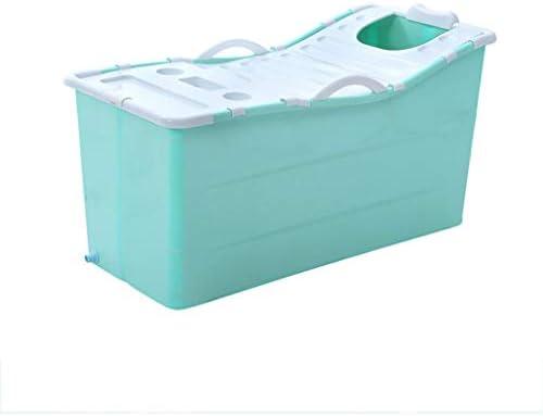 ポータブルシャワーストール用のバスタブを浸し折り畳み式のバスタブ、大人、プラスチックプール (Color : Green)