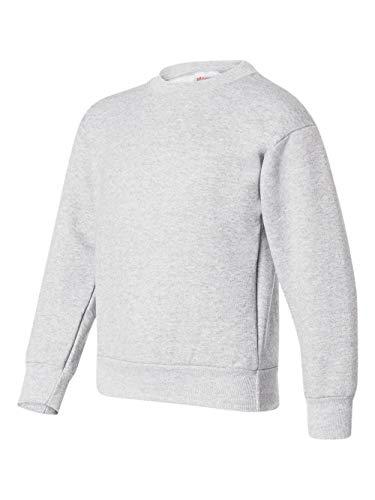 (Hanes Youth 7.8 oz 50/50 Crewneck Sweatshirt in Ash - Large (14/16))