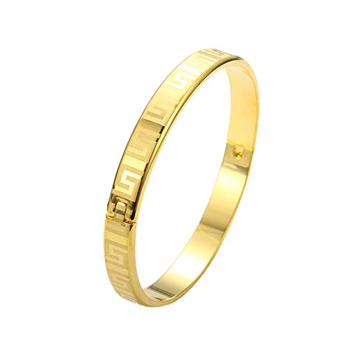 loyoe jewelry 24k Yellow Gold Filled Openable Womens Bangle Bracelet -