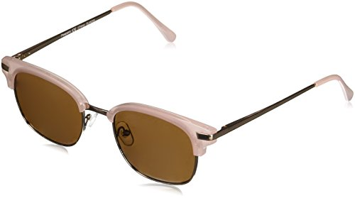 Peepers Women's Water Color Sun-Pink Square Sunglasses, Gold, 1.5 ()