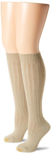 - Gold Toe Women's Argyle Wool Texture Knee High 2 Pair Dress Socks, Khaki, 9-11