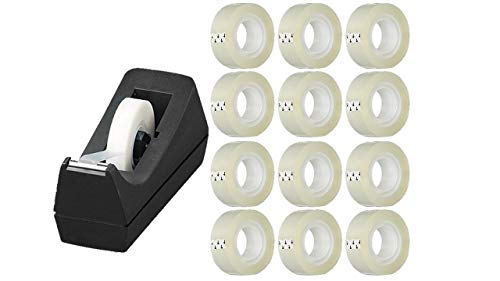 Tape Dispenser for Desktop with 12 Rolls of 3/4