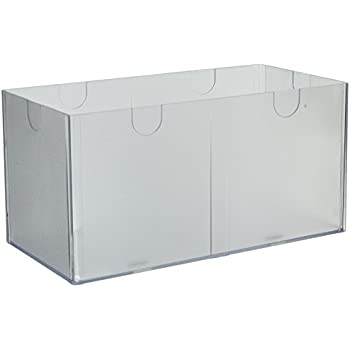 Deflecto Desktop Organizer, 12 x 6 x 6 Inches, Clear (350501)