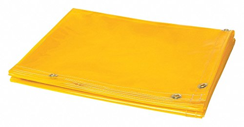 Steiner 334-4X6 Tinted Transparent Vinyl Welding Curtain, 14 mil, - Welding Gold Curtain