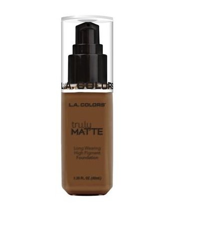 L.A. Colors Truly MATTE Long Wearing High Pigment Foundation (CLM364 Mahogany)
