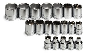 - SK 3919 19 Piece 3/8-Inch Drive 6 Point 6-Millimeter to 24-Millimeter Socket Set