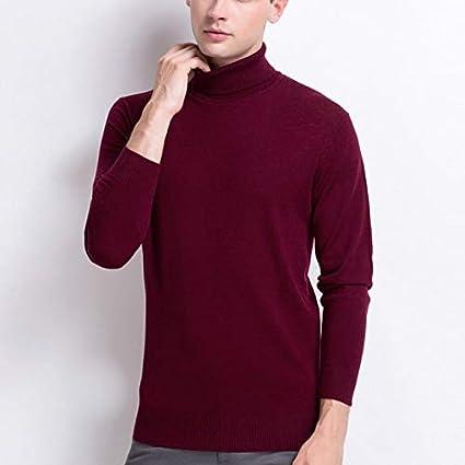 QWESHTU Camiseta con Cuello Alto Slim Fit para Hombre Unisexo ...