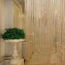 Wondrous Generic Glitter String Bead Door Curtain Panels Screen And Room Divider Voile Curtains Net Multicolour Interior Design Ideas Tzicisoteloinfo