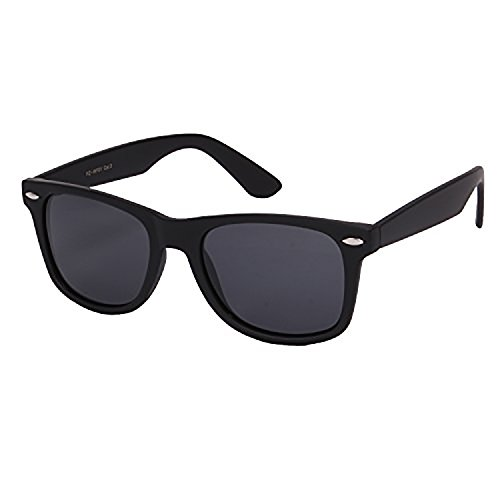 Retro Rewind Classic Polarized Wayfarer Sunglasses (Matte Black, 52)