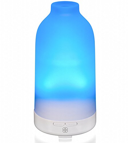 Deneve Essential Oil Diffuser Botella Glass Aromatherapy Oils Humidifier and Mister Perfect Decor Gift for a Peaceful Home Wellness Workout Yoga & Meditation or Office Space (Prism Color)