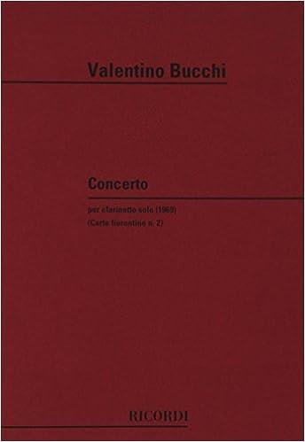 Livres Concerto Per Clarinetto Solo pdf epub