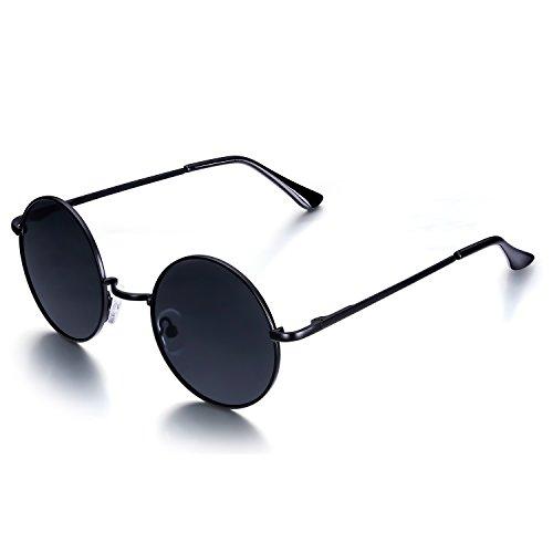 e3f346b8cf Venta caliente 2018 Menton Ezil John Lennon Pegueño Redondas Gafas de Sol  Retro Vintage Estilo Hippy