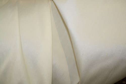 - Poly Dupioni Silk Fabric - Color #2002 Ivory, 50 Yards Wholesale By the Bolt