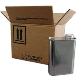 Air Sea Containers 6 X 1 Quart F Style Metal Can Kit 4g