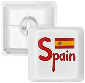 DIYthinker España Bandera Nacional Modelo Rojo Teclas Pbt para Teclado Mecánico Blanco OEM Sin Marca De Impresión: Amazon.es: Electrónica