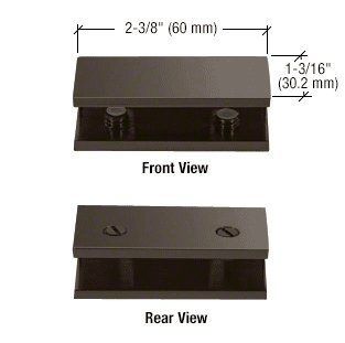 CRL Oil Rubbed Bronze No-Drill Fixed Panel Glass Clamp for 5/16'' to 3/8'' Glass by C.R. Laurence