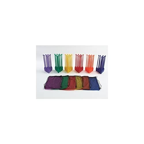 Image of Gamecraft Slimpins Bowling Pins(6 Packs of 10 Pins with a of 60 Multicolor total pins), Medium Bowling Pins