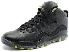 Nike Air Jordan 10 Retro Boys' Kids (GS) Grade School Black/Cool Grey/Anthracite/Venom Green 310806-033 (Size: 4Y)