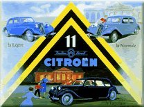metal-sign-french-vintage-design-citroen-traction-avant-12x16