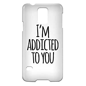 Loud Universe Samsung Galaxy S5 I'm Addicted To You Print 3D Wrap Around Case - White/Black