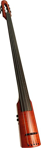 NS Design WAV Omni Bass, 5 String with padded bag and Tripod stand, Transparent Red by NS Design