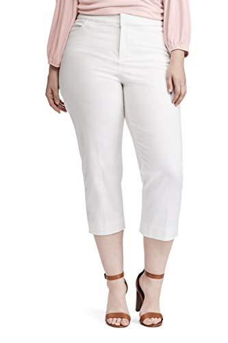 Chaps Womens Slimming Fit Bi-Stretch Twill Capris (White, for sale  Delivered anywhere in USA