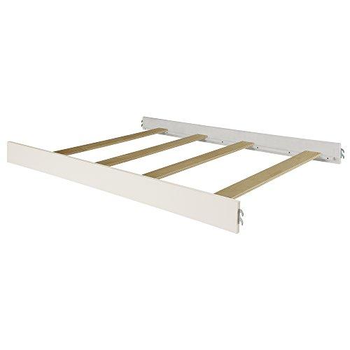 Evolur Universal Convertible Crib Wooden Full Size Bed Rail, Antique White/Cloud Antique White Crib