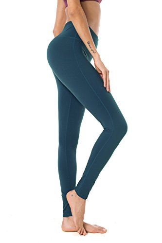 Drawstring Tights (Queenie Ke Women High Waist Drawstring Phone Back Pockets Sport Legging Yoga Pants Running Tights Size M Color Teal)