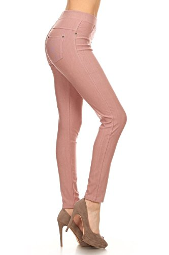 Leggings Depot Jeggings (J04-1004OS-MAUVE)