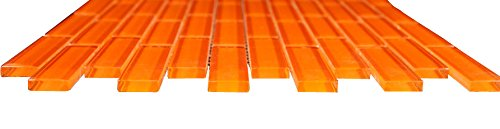 1x3 Glossy Orange Subway Glass Mosaic Tiles for Bathroom and Kitchen Walls Kitchen Backsplashes By Vogue Tile Free Shipping