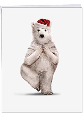 r Bear' Merry Christmas Card with Envelope (Big 8.5