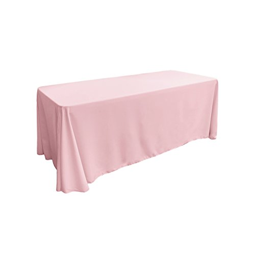 LA Linen Polyester Poplin Rectangular Tablecloth, 90
