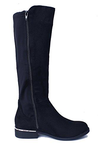 Basso Stivali Boots AgeeMi Tacco Eleganti Donna con Inverno Shoes Donna Nero wAqqXOz