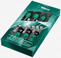 Wera - Hollow Nutdriver Set 7Pc Metric, 395 Ho/7 Sm - 5029510002 (Wera Nut Driver)