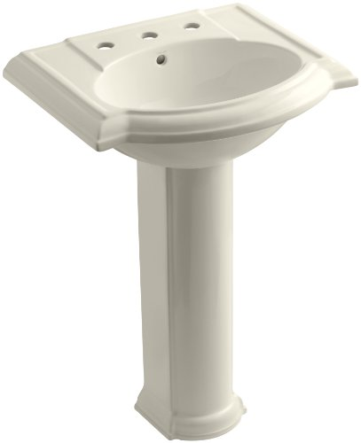 KOHLER K-2286-8-47 Devonshire Pedestal Bathroom Sink with 8