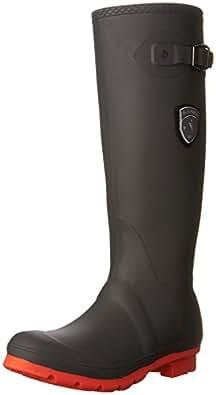Kamik Women's Jennifer Shoe, Charcoal/Coral, 6 Medium US