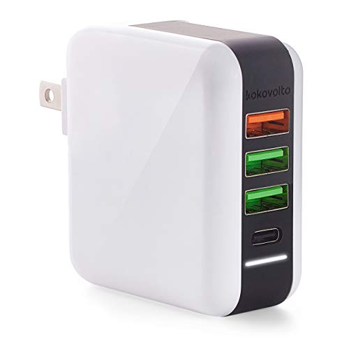 USB Wall Plug Charger – Fast Power Delivery Charger QC 3.0 Wall Charger Plus USB C Port – Fast Charging Block