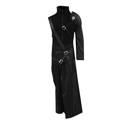 [Men's Fantasy Cosplay Costume Outfits for Halloween Black M] (Cloud Halloween Costume Final Fantasy Vii)