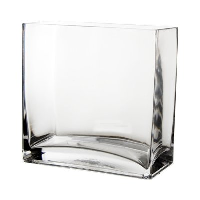 """CYS GCB067/08 Glass Rectangle Vase (Pack of 6), 8"""" x 8"""" x 4"""""""