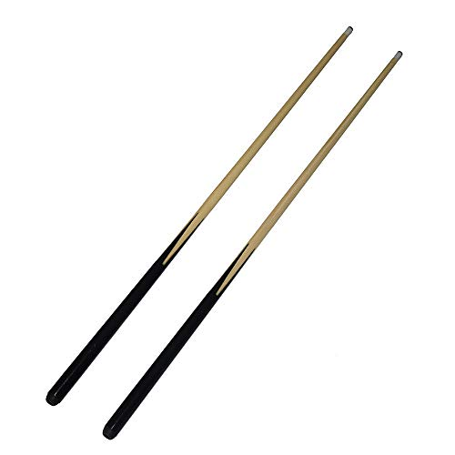 East Eagle 36 Inch Short Wooden Stick 1-Piece Hardwood Billiard/Pool House Cue-Set of 2