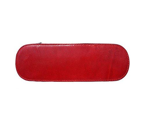 Florence Leather 207 - Bolso mochila  para mujer negro, Negro Y Marrón (multicolor) - 207 rojo & negro