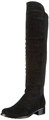 Blondo Womens Velma Waterproof Riding Boot Black Suede