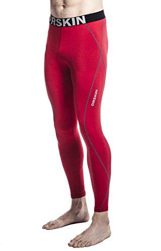 DRSKIN Compression Cool Dry Sports Tights Pants Baselayer Running Leggings Yoga Rashguard Men (DRG167, L)