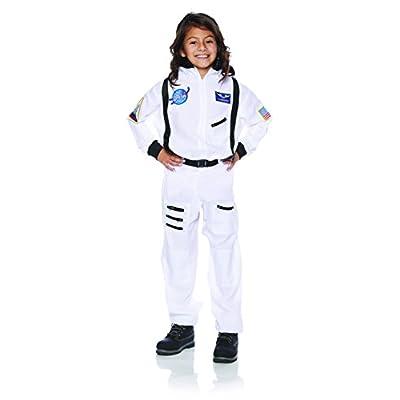 Underwraps Children's Astronaut Costume - White, Medium (6-8): Toys & Games