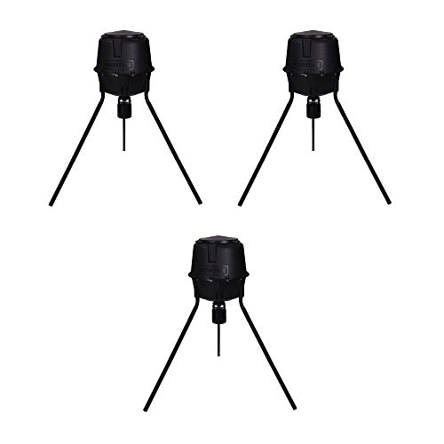 - Moultrie 30 Gal 360° Programmable 200 lb Cap Tripod Deer Game Feeder | MFG-13055 (3 Pack)