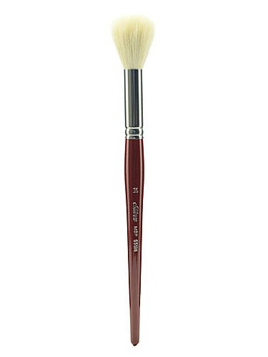 Silver Brush 5518S-14 Silver Mop Short Handle Blender Brush, White Round, Size 14 by Silver Brush Limited
