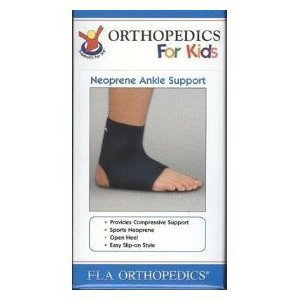 Pediatric & Youth Neoprene Ankle Support Sleeve Brace, FLA Youth